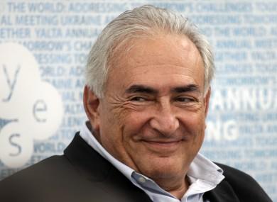 Dominique Strauss Kahn this month.