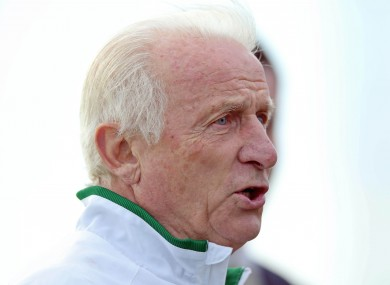 Giovanni Trapattoni speaks to the media ahead of Ireland's game with Kazakhstan.