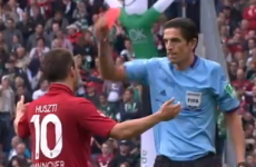 VIDEO: This Hannover player was booked — twice — for celebrating his injury-time winner