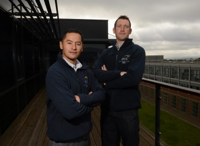 Bastick, right, and Jason Sherlock: the Dubs duo were awarded scholarship places on DCU's Executive MBA programme.