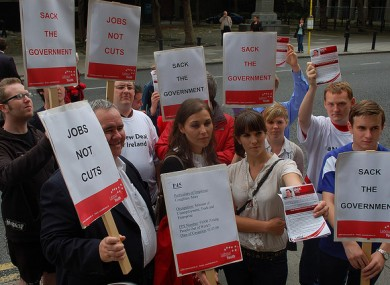 File photo of Labour Youth protest in 2005