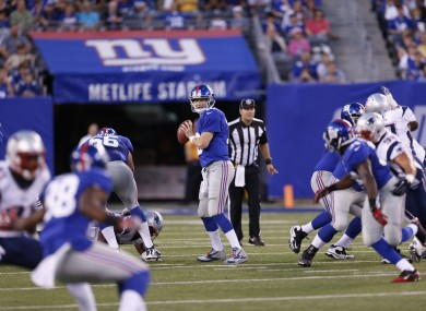 Eli Manning: his attempt to lead the Giants to back-to-back Super Bowls begins tonight.