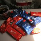 Ah the glamour of old-school flying. You paid a fortune for your plane ticket - but they made up for it* in free bags of pretzels and a free drink. *sort of. (Lars Plougmann/Flickr)