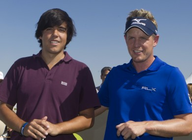 Javier Ballesteros and Luke Donald. File Picture.