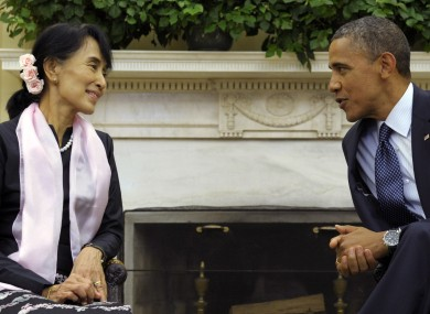 President Barack Obama meets with Burmeese democracy leader Aung San Suu Kyi