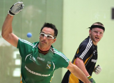 Michael Finnegan (right) and Paul Brady will compete in the the Open Doubles final later this evening.