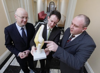 The head of Science Foundation Ireland Mark Ferguson (left) pictured with Minister of State Seán Sherlock and Dr James Kennedy from Athlone IT