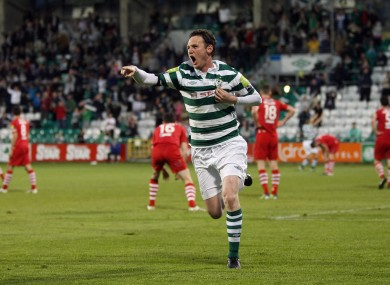 Twigg scores in Tallaght earlier this season.