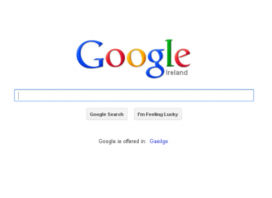 Google's Irish homepage, www.google.ie, was unavailable for some earlier today when sensitive records at