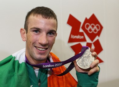 Nevin with his silver medal.