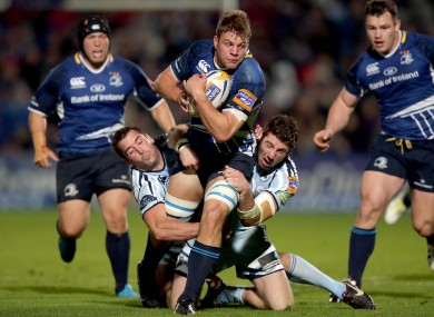 Jordi Murphy, Leinster's man-of-the-match, on the rampage.