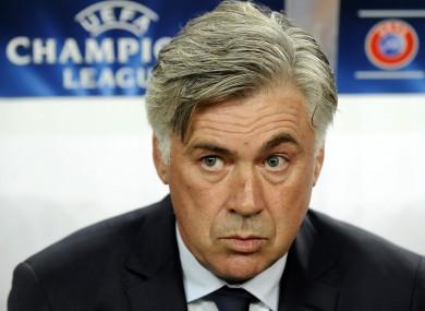 PSG's coach Carlo Ancelotti.