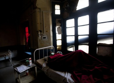 A tuberculosis patient in an isolation ward (File photo)