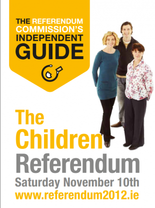 This Referendum Commission guide is to be sent to every home in the country in the next 10 days.