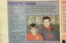 From 2000: Dublin's Dessie Farrell and his 11-year-old cousin, Seamus Coleman