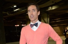 Steve Nash turned up wearing this for his first NBA game with the LA Lakers