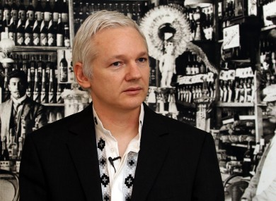 Assange speaking at a press conference at the Ecuadorian embassy in London earlier this week.