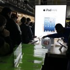 Customers shop on Black Friday for discounts on Apple products in Northeast Philadelphia. (AP Photo/ Joseph Kaczmarek)
