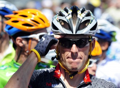 Lance Armstrong: in disgrace.