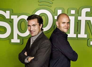 Martin Lorentzon and Daniel Ek, co-founders of Spotify.