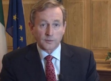 Enda Kenny speaking in a video posted to the Irish Government News Service, MerrionStreet.ie