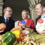 From left, speaker James McIntosh, Safefood; Mary Daly, FSPA; and speaker Simon Flanagan, Reading Scientific Services Ltd.