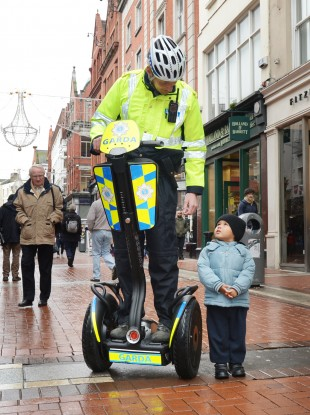 Gardai on Segways: Getting them on the right road from an early age.