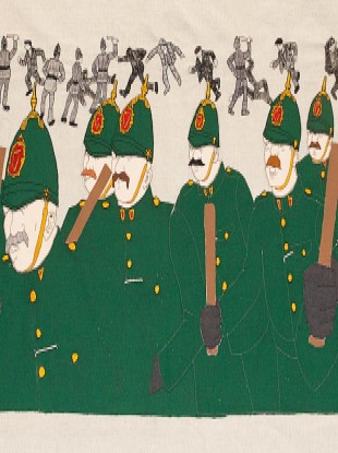 Part of the tapestry as designed by Robert Ballagh