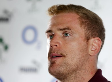 Heaslip will captain Ireland for the third time on Saturday.