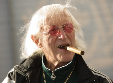 Jimmy Savile pictured in 2010