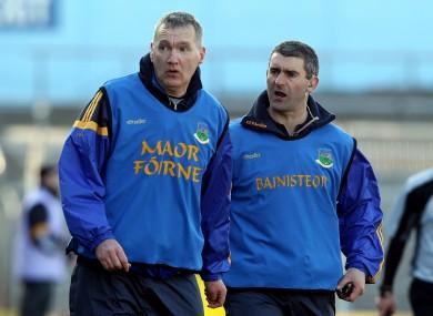Liam Sheedy (right) with Eamon O'Shea (left).