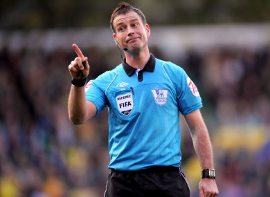 Mark Clattenburg: returns to action properly this week.