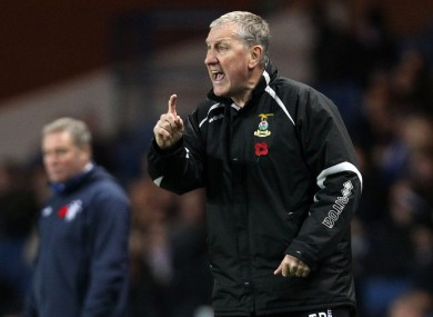 Inverness's Terry Butcher during the Scottish Communities League Cup, Quarter-Final match at Ibrox last night.