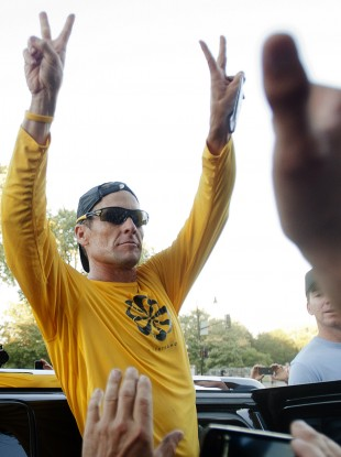 Lance Armstrong was stripped of his Le Tour titles in October.