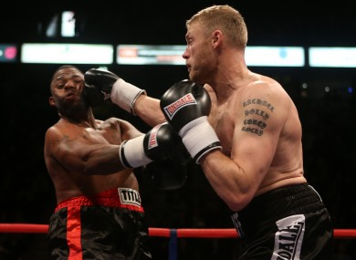 Andrew 'Freddie' Flintoff in action on his pro debut.