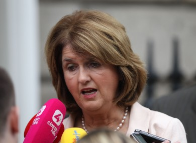 File photo of Minister for Social Protection Joan Burton.