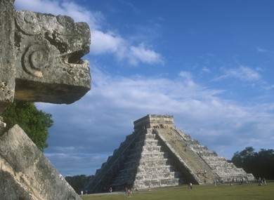 The ancient Mayan settlement at Chichen Itza in Mexico.