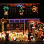 A house covered in thousands of Christmas lights in the Crumlin Road area of Belfast. (Niall Carson/PA Wire)