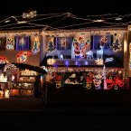 We wonder how many lights are on this house in the Artane area of Dublin? Answers on a postcard. (Niall Carson/PA Wire)