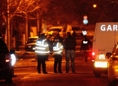 The scene on Furry Park Road where Eamon Kelly was fatally shot on Tuesday afternoon.