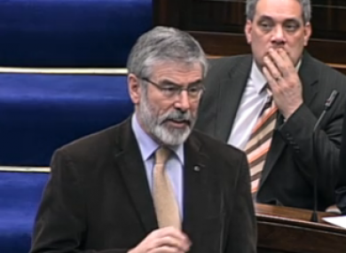 Gerry Adams said Sinn Féin would take legal advice on whether TDs were entitled to vote, even if they were suspended from the Dáil.