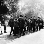 Women protesters being arrested in Hyde Park in 1912. (PA Archive)