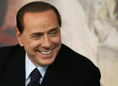 File photo of Silvio Berlusconi.