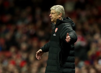 Wenger saw his side suffer an embarrassing loss against Bradford last night.