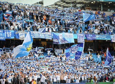 File photo of Zenit supporters.