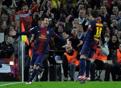 Lionel Messi scored his side's second goal.