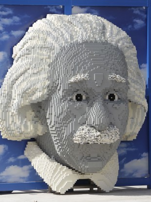 A bust of Albert Einstein at Legoland in Florida. The genius physicists never underwent an IQ test.