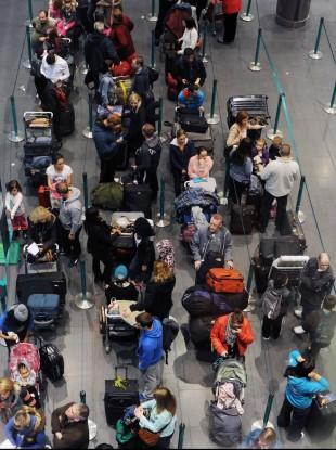 Passengers at Dublin Airport's Terminal 2.