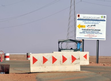 Roadblocks prevent the access of the Tigentourine gas plant where hostages were held for four days.