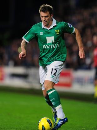 Pilkington wearing the green of Norwich.